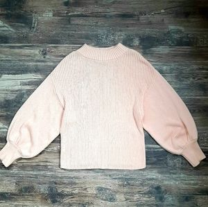 ICONE puff-sleeve cropped sweater